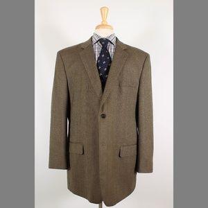 Joseph & Feiss 48L Brown Sport Coat B174
